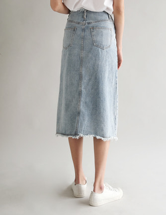 cumming denim skirt
