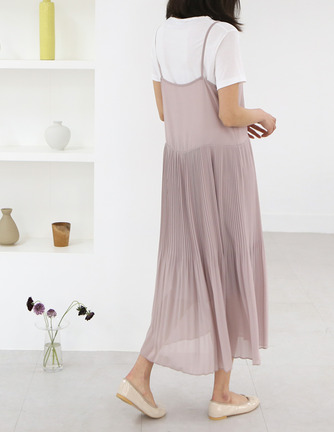 wrinkle chiffon dress