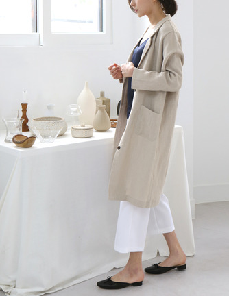 better linen long jacket