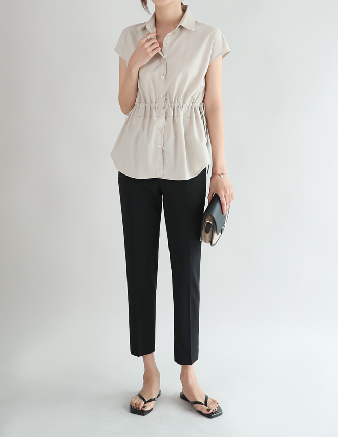 newel shirring blouse