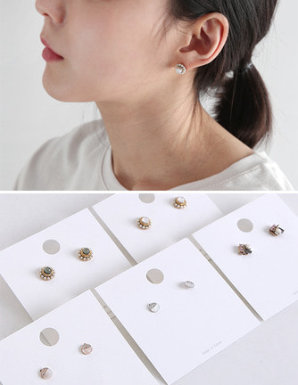 daily earring (3type)